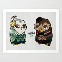 The Owls Art Print