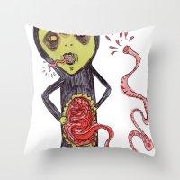Gastric bypass DEMON Throw Pillow