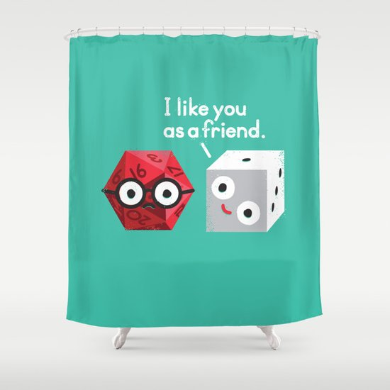 No Dice Shower Curtain