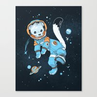 Space Ermine Canvas Print