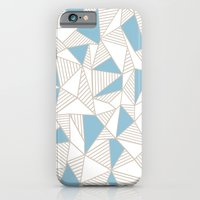 Ab Nude Lines with Blue Blocks iPhone 6 Slim Case