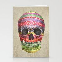 skull Stationery Cards featuring Navajo Skull  by Terry Fan