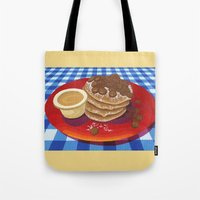 Tote Bag featuring Pancakes Week 4 by Megs stuff...