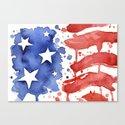 American Flag Watercolor 'Merica! Canvas Print