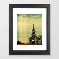 Creeper Church Framed Art Print
