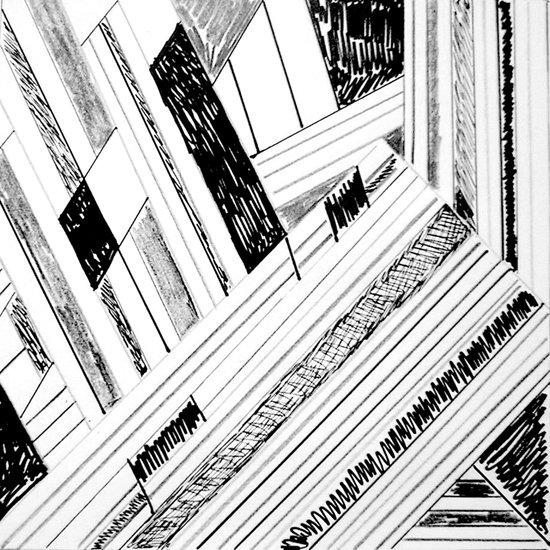 Retro Doodle Art Print