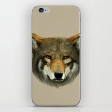 Wolf face iPhone & iPod Skin