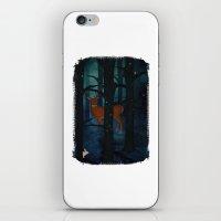 Winter Woods at Night iPhone & iPod Skin