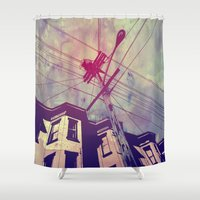 Wires Shower Curtain
