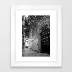Christmas lights at Johnson's Court, Dublin Framed Art Print
