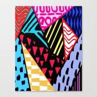 Colour clash. Canvas Print