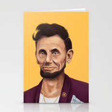 Hipstory -  Abraham Lincoln Stationery Cards