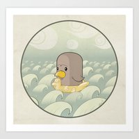 Chick Across the Sea Art Print