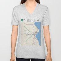 Milwaukee Transit System… Unisex V-Neck