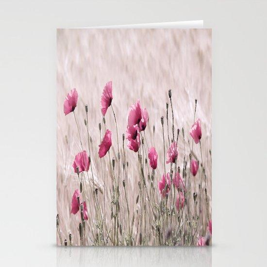 Poppy Pastell Pink Stationery Card