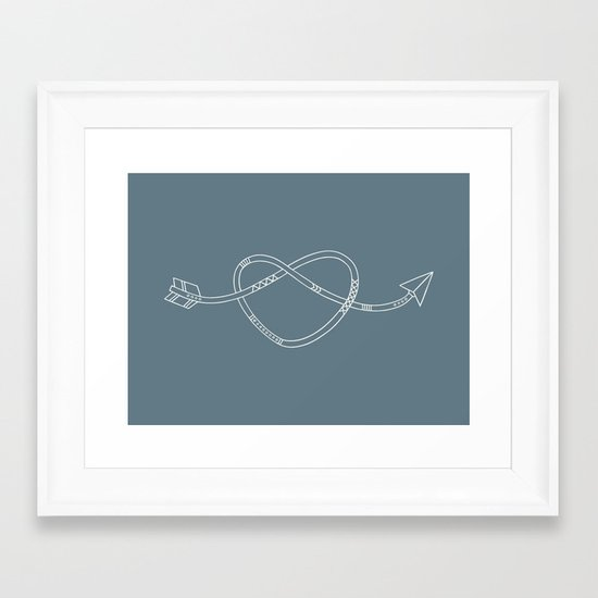 The Heart & The Arrow Framed Art Print