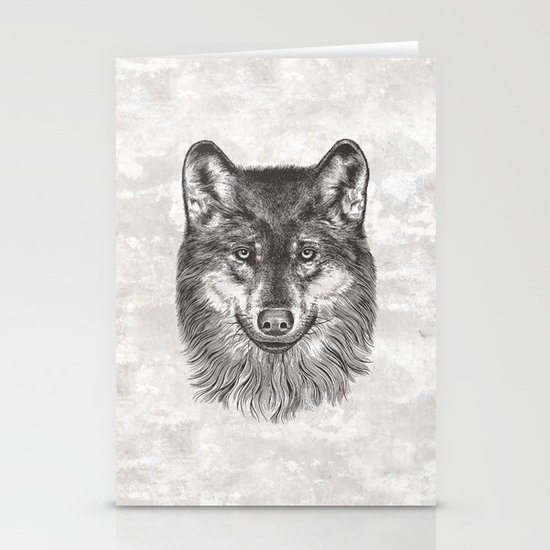 Canis Lupus (Gray Wolf) Stationery Card