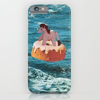 iPhone Cases featuring ADRIFT by Beth Hoeckel Collage & Design