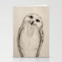Snowy Owl Sketch Stationery Cards