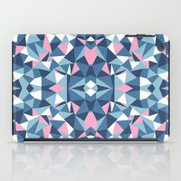 Abstract Collide Blue and Pink iPad Case
