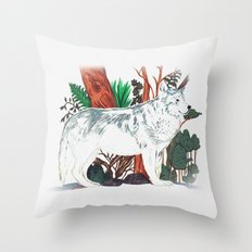 The Wolf Wanderer Throw Pillow