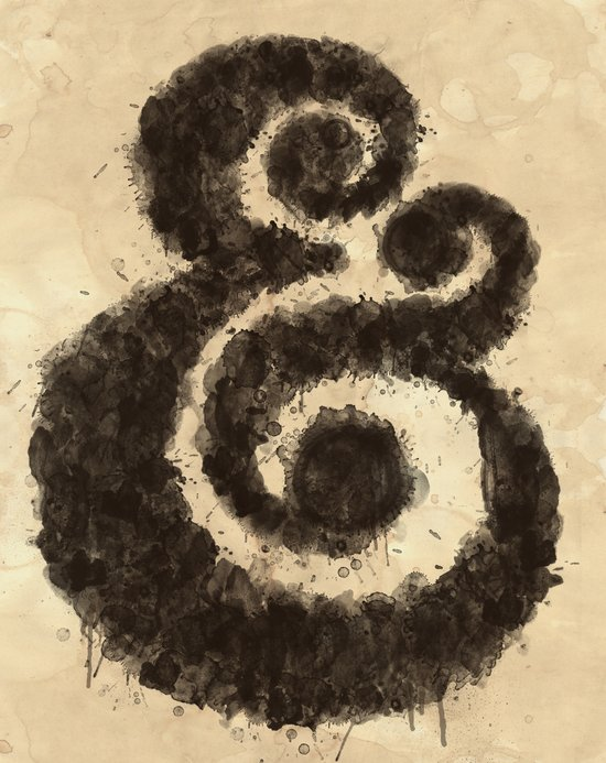 Ink Ampersand Art Print