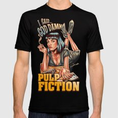Mia Wallace - Pulp Fiction Mens Fitted Tee Black SMALL