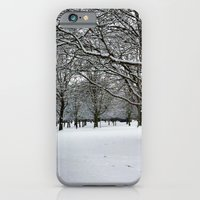 iPhone & iPod Case featuring Snowy Forest  by Efua Boakye