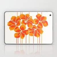 Hibiscus Stripe: Orange … Laptop & iPad Skin