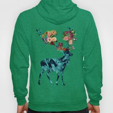 Sprint Itself Deer Floral Dark Hoody