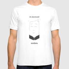 No electricity? Meditate! SMALL White Mens Fitted Tee