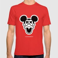 Mickey Duck Mens Fitted Tee Red SMALL