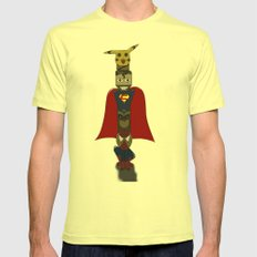 POP -TOTEM Mens Fitted Tee Lemon SMALL