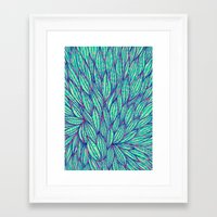 Natural leaves Framed Art Print