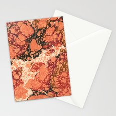 Marble Pink Square # 1 Stationery Cards