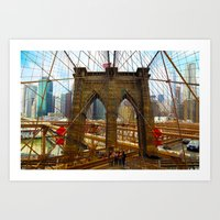 New York. Brooklyn Bridg… Art Print
