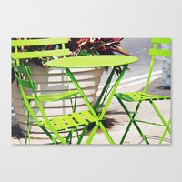 Lime Green Situation In … Canvas Print