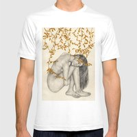 The Fragility Of Being Human Mens Fitted Tee White SMALL
