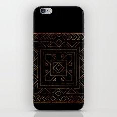 Geometric I - Black on Wood iPhone & iPod Skin