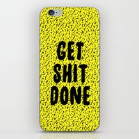Get Shit Done 1980s 1990… iPhone & iPod Skin