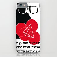 iPhone Cases featuring Jew Boy Vs. Reaper Man by Delghe