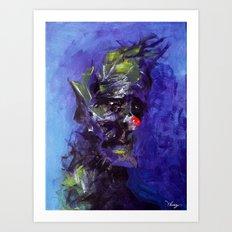 Gloomy Clown Art Print