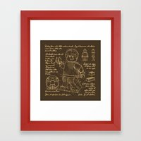 Plan Lego Framed Art Print