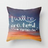 grateful Throw Pillow