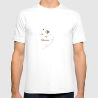 Bee my Valentine Mens Fitted Tee White SMALL