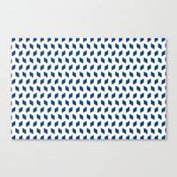 rhombus bomb in monaco blue Canvas Print