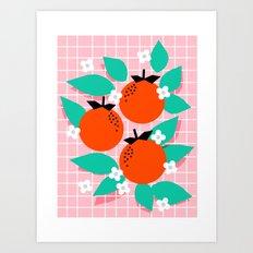 Bodacious - modern abstract minimal 1980s throwback memphis design trendy palm springs art Art Print