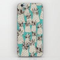 pineapple turquoise sea iPhone & iPod Skin