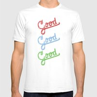 Good Mens Fitted Tee White SMALL