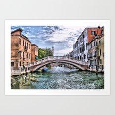 Under The Bridges Of Venice Art Print